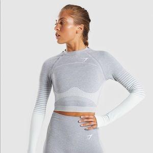 Gymshark Amplify Seamless Long Sleeve Crop Top